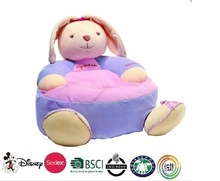 Pink plush rabbit sofa/children pink sofa/furniture toy- Soft rabbit Sofa