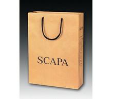 kraft paper bag with black logo ,kraft paper bag black handles ,one color printing kraft paper bag