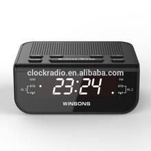 Digital PLL White Led Alarm Clock Radio for Home/Hotel Bedroom AM/FM Band
