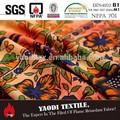 de alta calidad baratos de poliéster resistente al fuego tela de la cortina de la india para la venta
