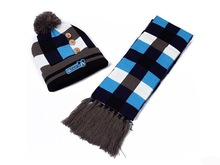 wholesale knitted scarf beanie and glove sets