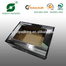Black cardboard PVC display boxes