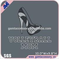 Volleyball Mom High Heeled Shoes Rhinestone Transfer Designs