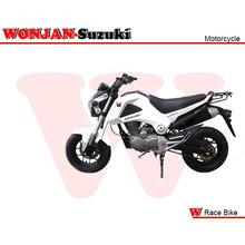 Race Bike (150cc) Wonjan-Suzuki engine, Motorcycle, , Motorbike, Autocycle,Gas or Diesel Motorcycle (WJ150-18 WHITE & BLACK)
