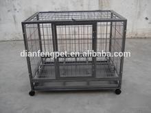 2 doors square tube folding metal heavy duty dog crates