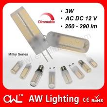 LED light bike AC DC12V dimmable 3W G4 LED car bulb