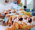 material de algodão reativa impressão baratos folha de cama set