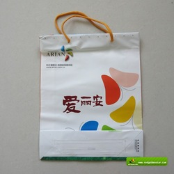high quality custom retail paper shopping bag with PP rope handle