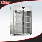 Restaurant Upright Showcase Freezer/Commercial Used Glass Door Display Freezers/Vertical Display Freezer