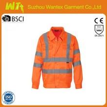 Hi vis shirt cotton Long sleeves orange comfortable anti-uv work shirts