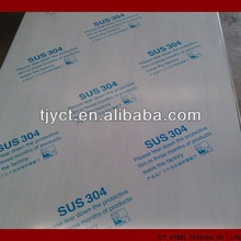 stainless steel sheet BA 2B PVC coated 201 304 316L