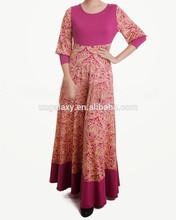 Abaya Kaftan Muslim maxi dress Abaya Islamic long sleeve Print Dress Muslim Women Large Size clothing 2014 New