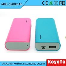 abs plastic raw 3000mah portable battery charger 18650 li battery MP207