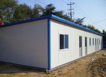 Simple design prefab home/Economic and easy to build flat roof prefab house
