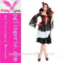 devil beside vampire girl long lace sleeve skirt exaggerated skirt