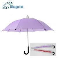 promo rain umbrella with collapsible plastic sheath