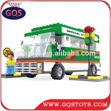 252PCS interesting plastic city bus blocks