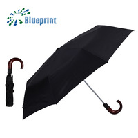 Businessmen UV Protection Convenient Full Auto 3 Folding Umbrella