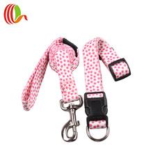 Classic pet dog dots print dog collars & leads set