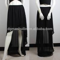 ladies plain color skirts short front long back korean skirt 2014
