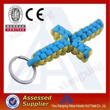 Wholesale braided cross keyring paracord bracelet weaves style
