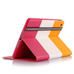 TPU Soft Cover Stand Color Matching Case for iPad Air 2 Cover with Credit Card Slots