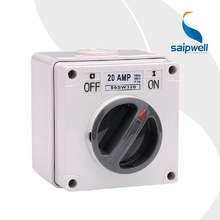 Saip/Saipwell Euronpean/Australian 500V 20A IP67 3P Electric Isolating Switch