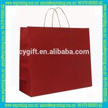 china custom wholesale kraft paper shopping bag foldable