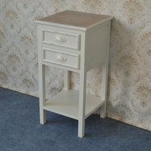 Distressed country style nightstand bedside table,2 drawer end table,2 drawer nightstand