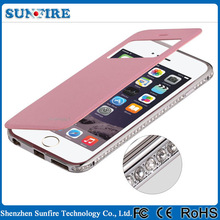 Factory Wholesale Mobile Phone Cover for iPhone 6, flip mobile cover