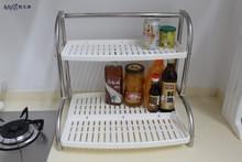 AVAFQI stainless steel kitchen plastic corner spice cabinet shelf dish rack