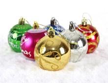 HFR-T336 colorful big plastic christmas balls