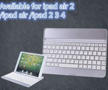 Aluminum Wireless Bluetooth Stand Keyboard For ipad air 2/ipad air/ipad 2 3 4