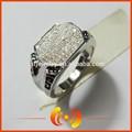 moda micro allanar joyería 925 diseño de plata de ley de los hombres del anillo de la joyería