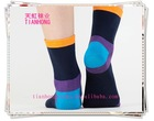 cheap price good quality multi-color sports cotton comression men five finger toe socks