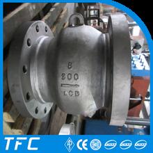 API 6D double flange axial flow nozzle check valve