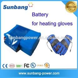 flexible lipo battery 7.4v 1800mah for heated gloves