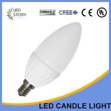 Light emitting diode candle bulb
