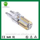 PF>0.55 4w 5w 10w Silicon G9 Led Bulbs CCT 2700K-6500K