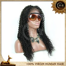 Top quality kinky curl full lace wig, afro kinky human hair wig