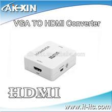 Mini VGA2HDMI HD Converter VGA + R /L Audio and Video to HD 1080P compliant HDCP