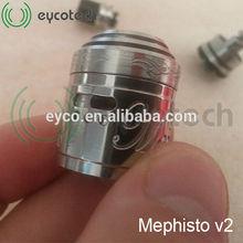Eyco tech 2014 Newest arrival mechanical mod vaporizer mephisto atomizer mephisto v2 1:1 clone