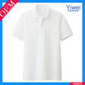 manga corta de algodón blanco bordado hombres personalizado dri fit polo t shirt