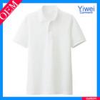 Short Sleeves White Cotton Men Embroidery Custom Dri Fit Polo T Shirt