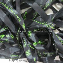 25mm nero nastro di raso con marchio stampato nastro
