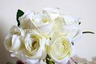Silk heads rose flower,artificial rose bush,cheap artificial flower wholesale