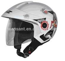2014 high quality flip up double visor open face helmet top sale