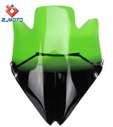 ZJMOTO Racing Motorcycle Unique Green Black Gradient Windscreen