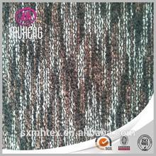 High quality wool polyester acrylic yarn dye knitting fabric