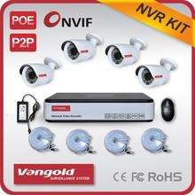 poe nvr kit New Product 4CH P2P & POE NVR Kit Megapixel HD CCTV Camera System
